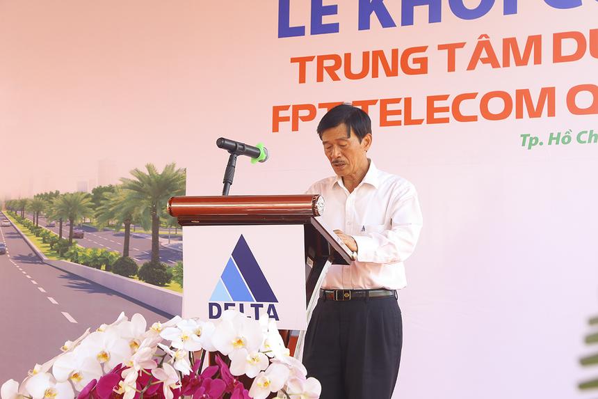 """""""Với kinh nghiệm hợp tác cùng Tập đoàn FPT, tôi tự tin đây không chỉ là công trình chất lượng mà còn đẹp, mang tính biểu tượng và sẽ hoàn thành đúng tiến độ"""", ông Nguyễn Thành Vinh (CEO Tập đoàn Delta, đơn vị thi công) chia sẻ."""